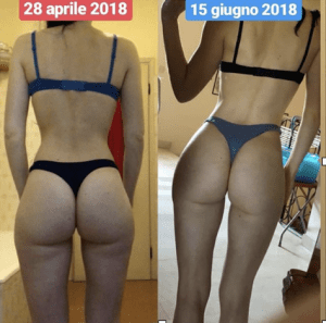Prima e dopo bodybuilding femminile