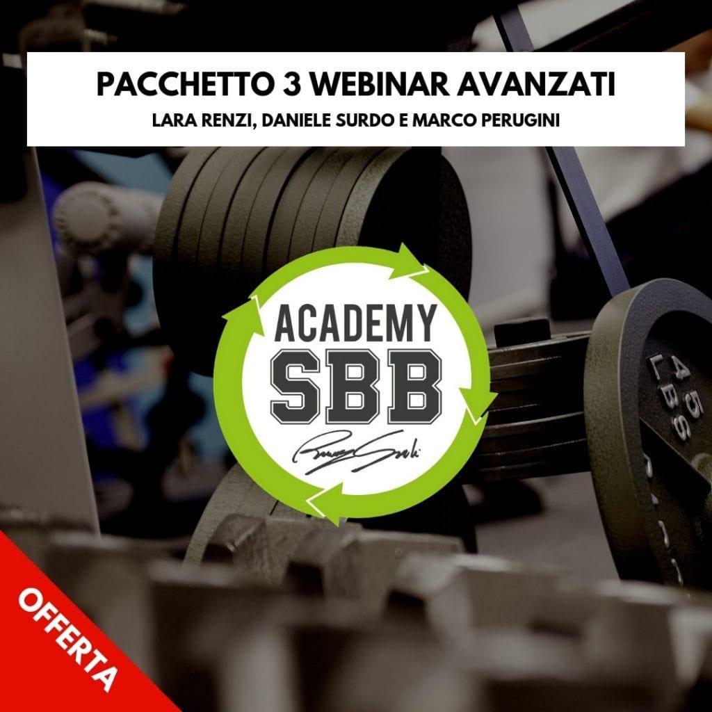 Pacchetto 3 webinar bodybuilding avanzato