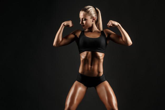 fitness e bodybuilding corpo femminile perfetto